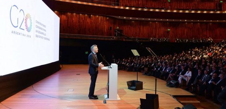 Mauricio Macri asumió la jefatura del G20, con un discurso en el Centro Cultural Kirchner.