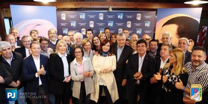 Cristina Fernández participó de la reunión del PJ. El peronismo se reunió para avanzar con su estrategia electoral.